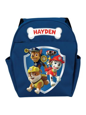 Personalized PAW Patrol Ready for Adventure Blue Toddler Boy Backpack