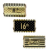Gold Foil 16th Birthday Candy Wrappers 54ct