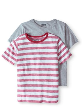 Solid And Graphic T-Shirt, 2-Pack Set (Little Boys & Big Boys)