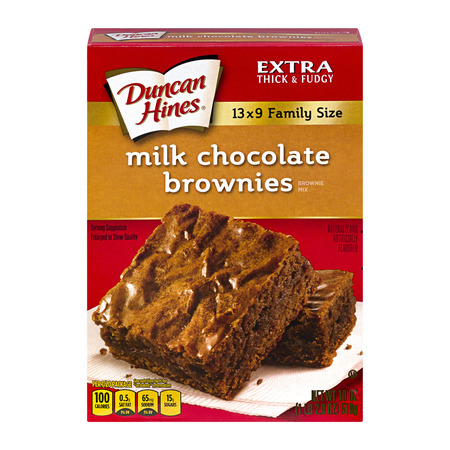 (5 Pack) Duncan Hines Milk Chocolate Brownie Dessert Mix, 18 oz Box - Halloween Desserts Chocolate