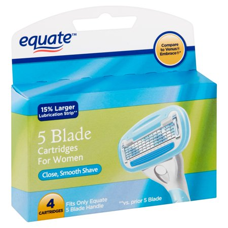 Equate 5 Blade Cartridges For Women 4 Count Walmart Com