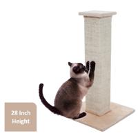 "Cat Scratching Post Sisal Burlap, 28"", Beige"