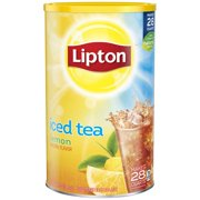 (6 Boxes) Lipton Lemon Iced Tea Mix, 28 qt