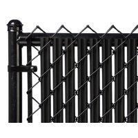 Black 6ft Ridged Slat for Chain Link Fence