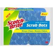 Scotch-Brite Non-Scratch Scrub Dots Scrub Sponge, 6 Count