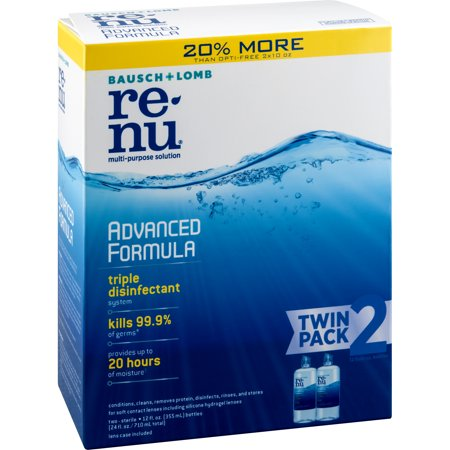 renu Advanced Formula Contact Lens Solution 2x12