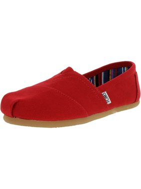 Toms Women's Classic Canvas Red Ankle-High Flat Shoe - 7M