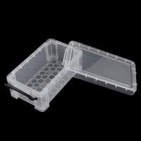 Household Essentials Article Plastic Clear Collection Storage Box Container Case 2pcs