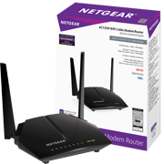 NETGEAR AC1200 (8x4) WiFi Cable Modem Router Combo C6220, DOCSIS 3.0 | Certified for XFINITY by Comcast, Spectrum, Cox, and more (C6220-100NAS)