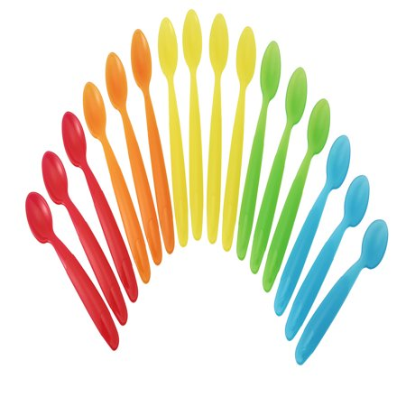 Cobalt Blue Spoon - The First Years Take & Toss Infant Spoons, 16 Pk