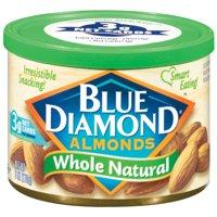 (2 Pack) Blue Diamond Whole Natural Almonds, 6 oz
