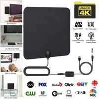 [Newest 2019] Amplified HD Digital TV Antenna Long 130+ Miles Range – Support 4K 1080p and All Older TV's Indoor Powerful HDTV Amplifier Signal Booster - 18ft Coax Cable