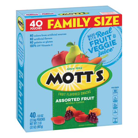 (2 Pack) Mott's Medleys Fruit Snacks Family Size 40 Pouches 0.8 oz Each - Halloween Fruit Snacks