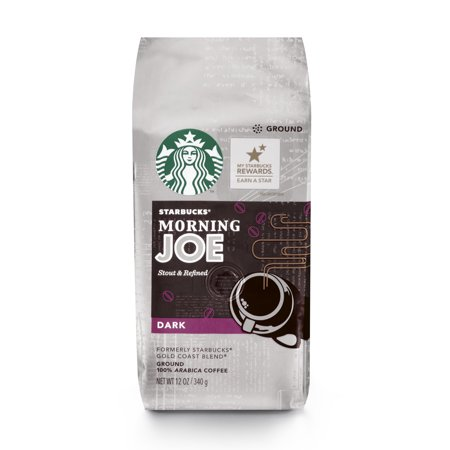 Gold Ground Coffee (Starbucks Morning Joe Gold Coast Dark Roast Ground Coffee, 12-Ounce Bag )