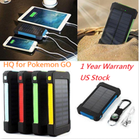 Waterproof 600000mAh Dual USB Portable Solar Battery Charger Solar Power Bank for iPhone, Mobile Cell Phone-Green