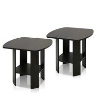 Furinno Simple Design End Table Set of Two, Espresso
