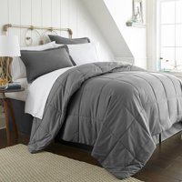 Becky Cameron 8 Piece Resort Style Soft Comfort Bed in a Bag Set - Full - Gray