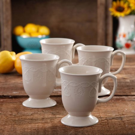 The Pioneer Woman Cowgirl Lace Mug Set Set Of 4 Walmartcom