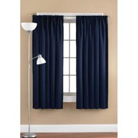 Mainstays Room Darkening Window Curtain Panel Navy