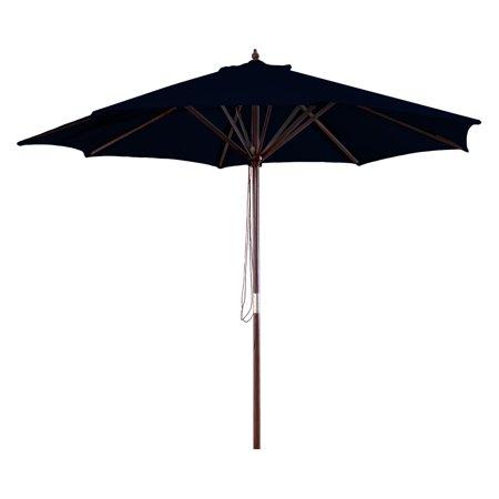 9' Wood Market Umbrella, Multiple Colors (Deluxe Wood Market Umbrella)