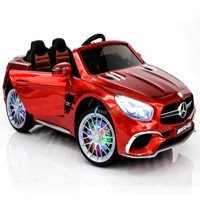 New 12V Mercedes AMG SL65 Ride on power electric ONE SEATER car For ONE Kid with MP4 Touch Screen Remote Control LED lights MP3 - Red