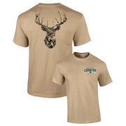 f2d7b846 Mossy Oak Camoflage Deer Head Men's Hunting T-Shirt