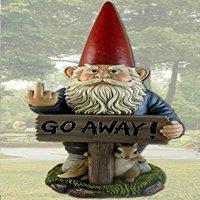 """DWK Take A Hike """"Go Away"""" Garden Gnome Un-Welcome Garden Statue"""