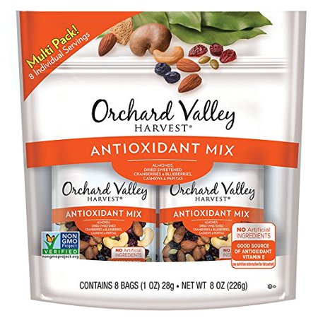 Orchard Valley Harvest Antioxidant Mix Multi Pack, 1 oz Bags (8 Pack) - Trail Mix For Halloween