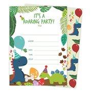 Dinosaur Happy Birthday Invitations Invite Cards 25 Count With Envelopes Seal Stickers Vinyl