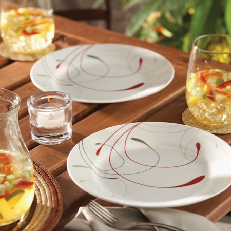Corelle Livingware Splendor 16-Piece Dinnerware Set (Arabic Dishes Set)