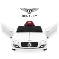 Best Choice Products 12V Kids Licensed Bentley EXP 12 Ride-On Car w/ Remote Control, Foot Pedal, 2 Speeds, Headlights, AUX - White