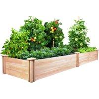 "Greenes Fence 2' x 8' x 10.5"" Cedar Raised Garden Bed"