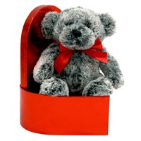 Valentine chocolate scented bear in a heart-shaped gift box