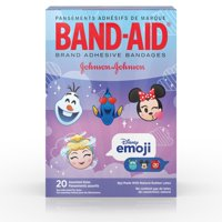Band-Aid Adhesive Bandages, Disney Emoji Characters, Assorted Sizes 20 ct
