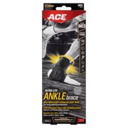 ACE Ultra-Lite Ankle Brace, Medium, Black, 1/pack