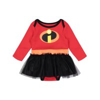 Disney Pixar The Incredibles Newborn Baby Girls' Costume Bodysuit Dress, 3-6M