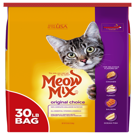 Alum Cat (Meow Mix Original Choice Dry Cat Food, 30-Pound )