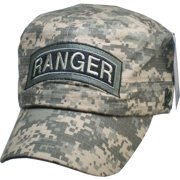d5a4790d6e4 Army Ranger ACU Washed Mens Flat Top Cadet Cap  Digital Camouflage -  Adjustable