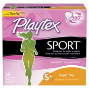 Playtex Sport Unscented Tampons, Super Plus Absorbency, 36 Ct