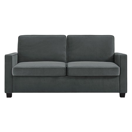 Full Size Reclining Sofa - Signature Sleep Casey Sleeper Sofa, Gray Velvet, Multiple Sizes