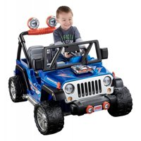 Power Wheels Hot Wheels Jeep Wrangler, Blue Ride-On