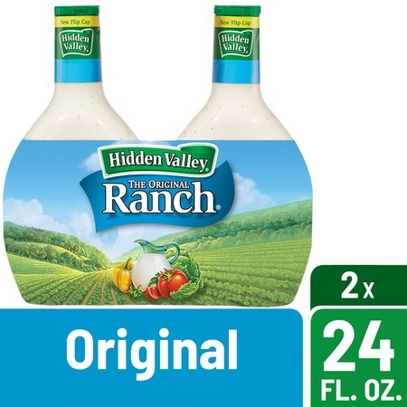Hidden Valley Original Ranch Salad Dressing & Topping, Gluten Free - 24 oz Bottle - 2 ct - Halloween Cross Dressing