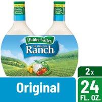 Hidden Valley Original Ranch Salad Dressing & Topping, Gluten Free - 24 oz Bottle - 2 ct