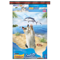 Friskies Seafood Sensations Adult Dry Cat Food, 16 lb