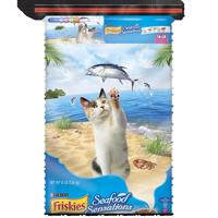 Friskies Seafood Sensations Adult Dry Cat Food, 16 lb