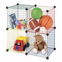 Whitmor Kids Storage Cubes Multicolor Set of 4