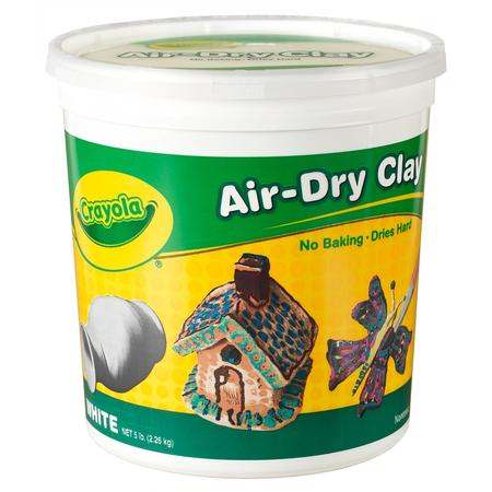 Hydroton Clay Pellets - Crayola Air Dry Clay Bucket, No Bake Clay For Kids, 5Lbs, White