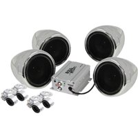 Boss Audio MC470B Chrome 1000 watt Motorcycle/ATV Sound System w Bluetooth Audio Streaming