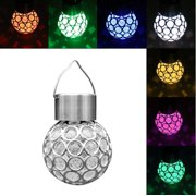 9f3c9c67c56d WALFRONT Colorful Solar Powered LED Hanging Light Waterproof Outdoor Yard  Garden Decoration Lamp New
