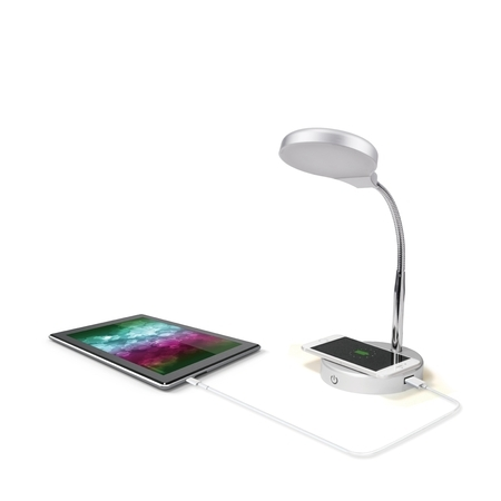 Mainstays LED Desk Lamp with Qi Wireless Charging and USB (Best Lighting Ever Led Lamps)